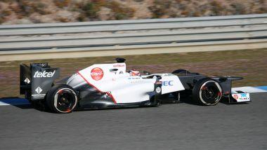 La Sauber C31 ai test di Jerez 2012