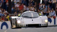 La Sauber C9 del team Sauber Mercedes vincitrice a Le Mans nel 1989