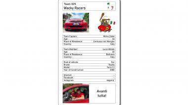 La scheda del team italiano Wacky Racers, dal sito Sixbridges-rally.de