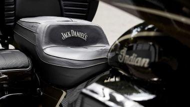 La sella della Indian Roadmaster Jack Daniel's Limited Edition