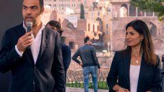 La sindaca di Roma Virginia Raggi alla presentazione di Jump di Uber