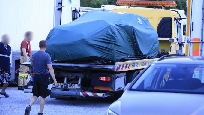 La Skoda Octavia RS coinvolta nell'incidente