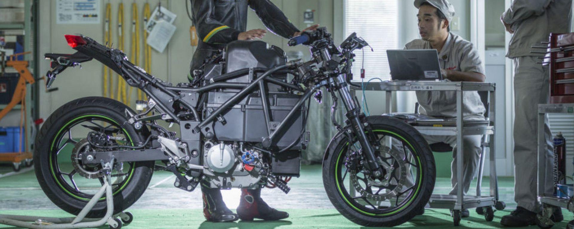 La supersportiva elettrica di Kawasaki