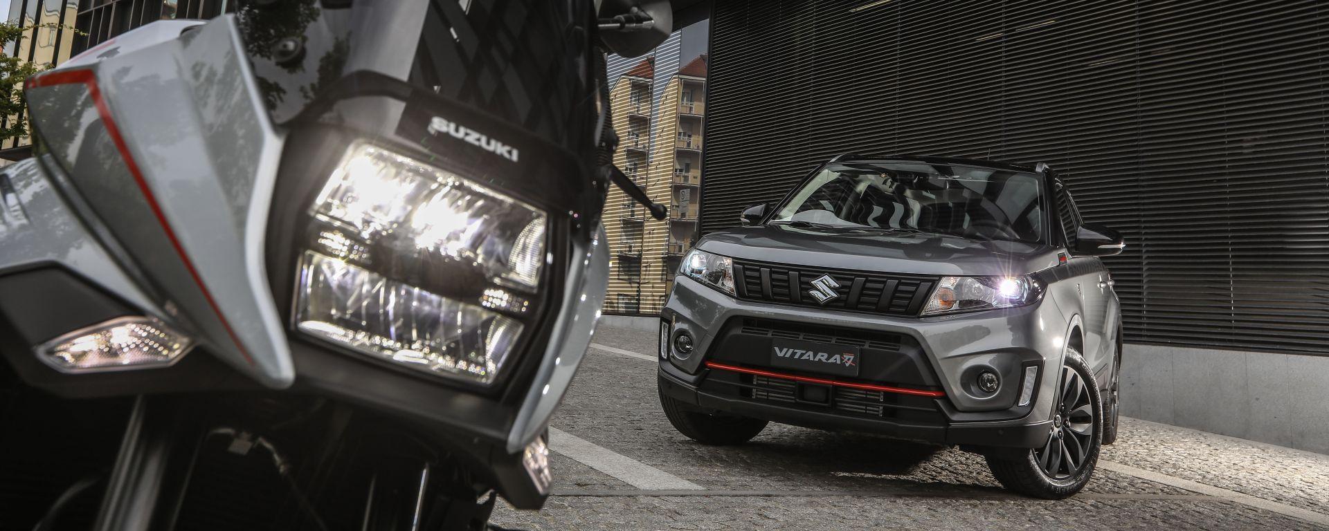 La Suzuki Katana con la Suzuki Vitara