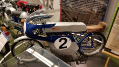 La Suzuki RM62 del 1962 al museo Suzuki ad Hamamatsu, in Giappone