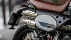 La tabella portanumero della Fantic Motor Scrambler 500 Deluxe Edition