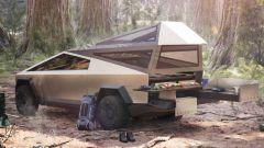 La tenda da campeggio del Tesla Cybertruck