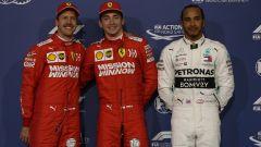La top-3 delle qualifiche del GP Bahrain: Leclerc in mezzo a Vettel e Hamilton