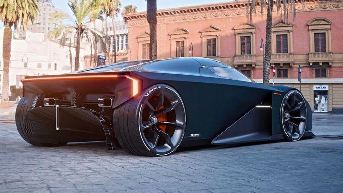 La vista posteriore del concept Koenigsegg