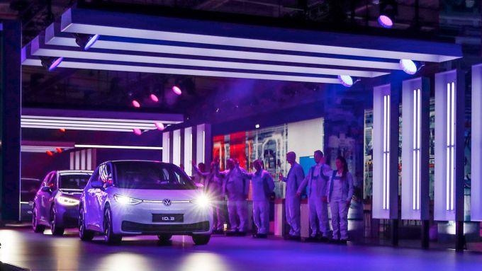 La Volkswagen ID.3, prima elettrica della nuova gamma della casa di Wolfsburg