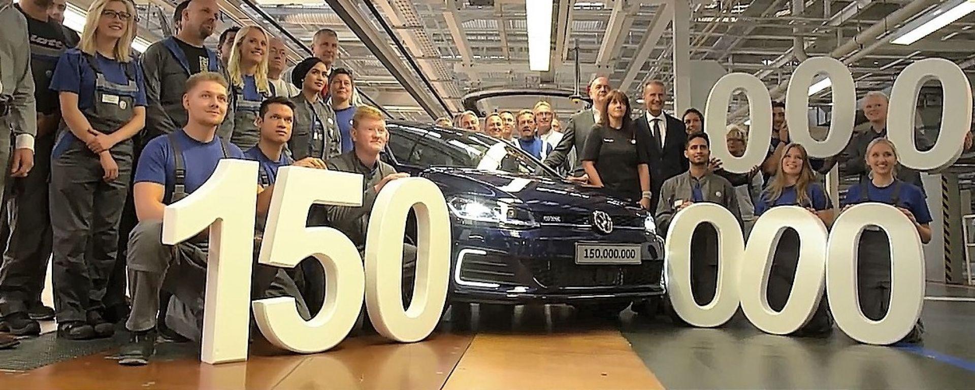 La Volkswagen numero 150 milioni è una Golf GTE