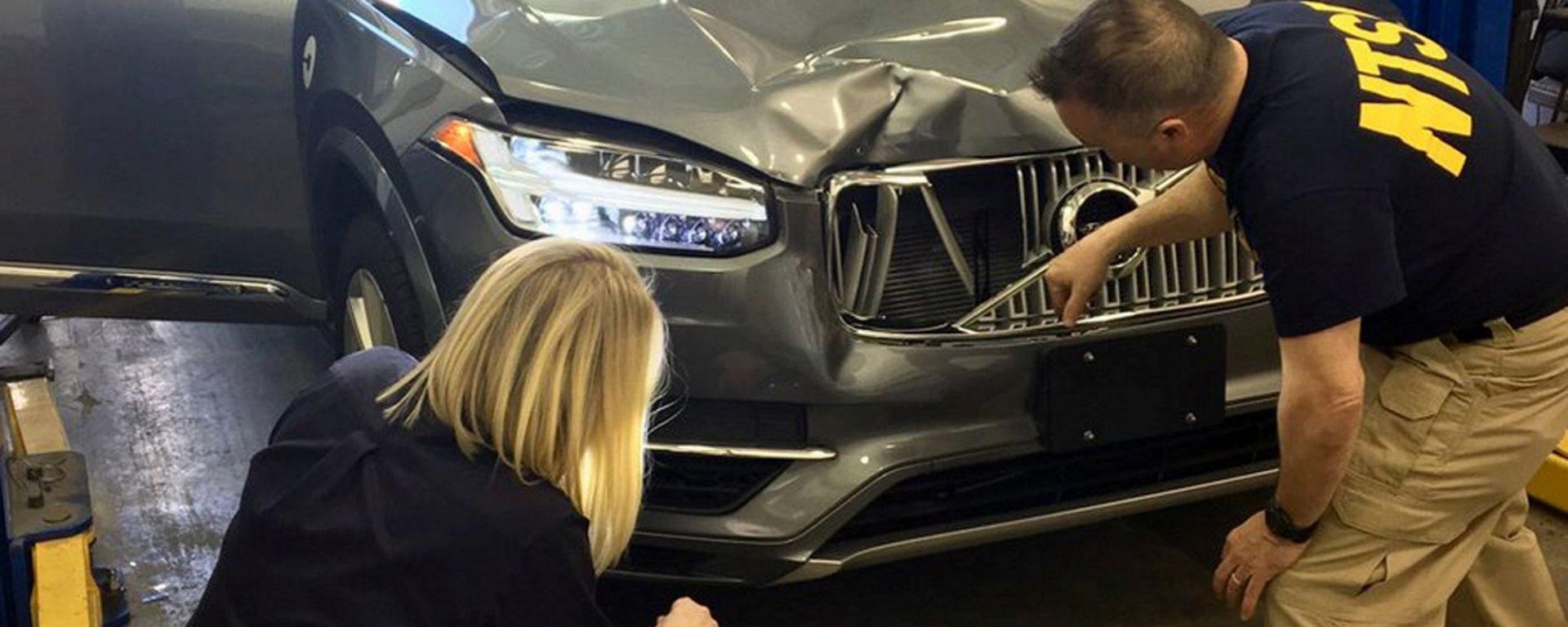 La Volvo XC90 triste protagonista dell'incidente di Uber con il pedone americano