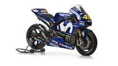 La Yamaha 2018 di Valentino Rossi, vista laterale destra