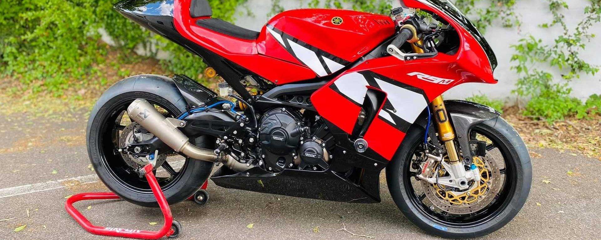 La Yamaha R9M: base Tracer 900 GT e modifiche da moto da corsa
