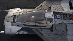 L'abitacolo di Tri-Wing S-91x Pegasus Starfighter