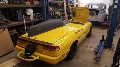 L'Alfa Romeo Spider dei record a Bonneville: il posteriore