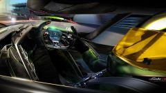 Lambo V12 Vision GT: l'abitacolo