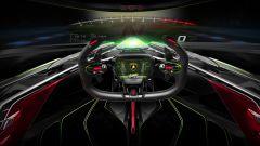 Lambo V12 Vision GT: posizione di guida