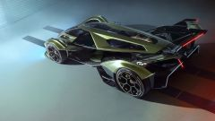 Lambo V12 Vision GT: vista 3/4 posteriore