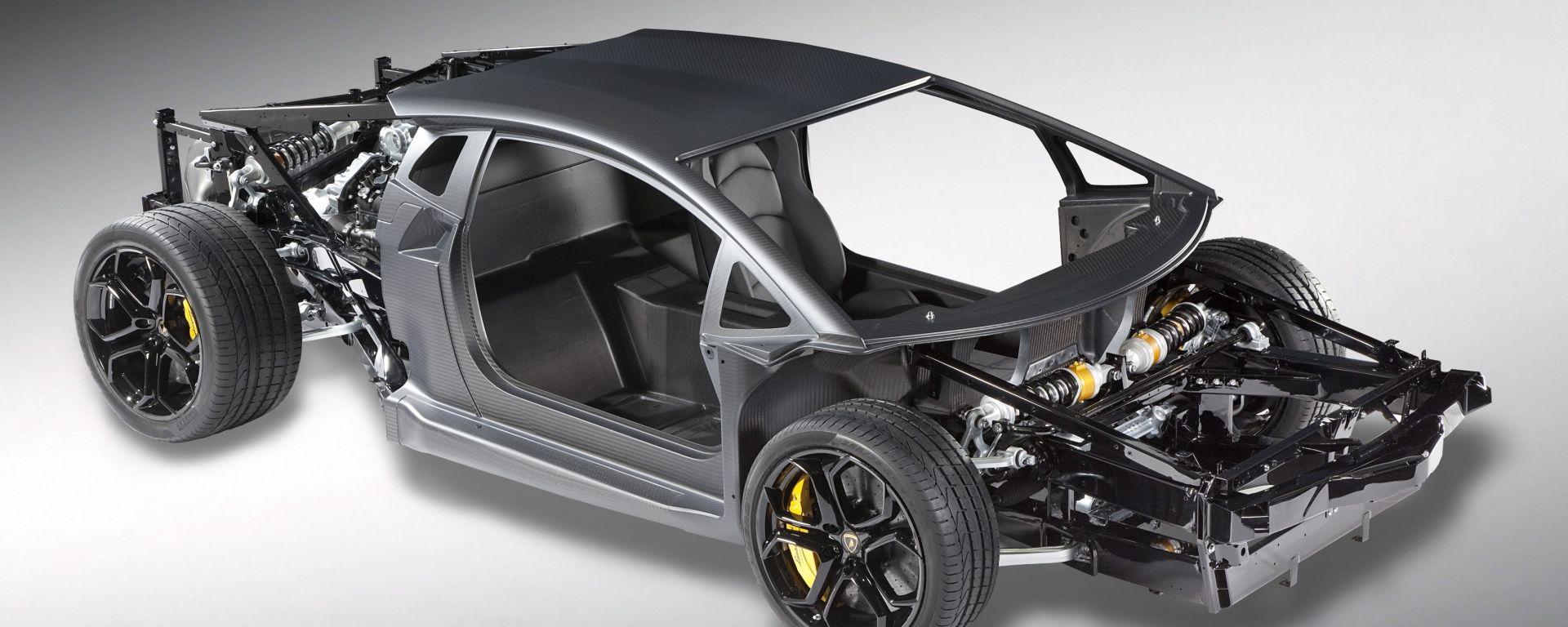 Lamborghini V12: svelato il telaio monoscocca