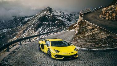 Lamborghini Aventador: realizzata quasi tutta in fibra di carbonio