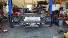 Lamborghini Aventador stampata in 3D: visuale posteriore