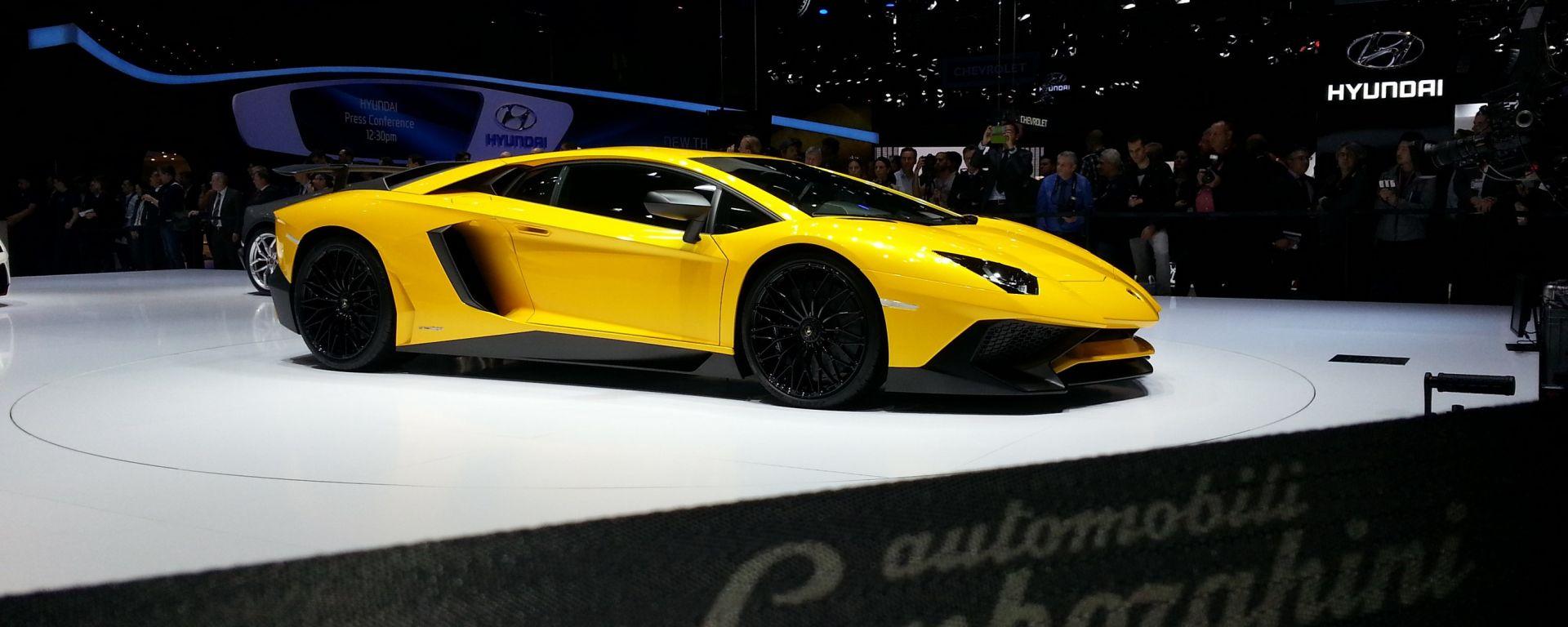 Lamborghini Aventador SV: il video dallo stand
