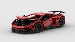 Lamborghini Aventador SV Lego: con il cofano aperto