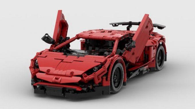 Lamborghini Aventador SV Lego: cura dei dettagli eccezionale