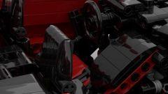 Lamborghini Aventador SV Lego: l'abitacolo e il volante