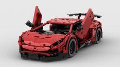 Lamborghini Aventador SV Lego: vista 3/4 anteriore