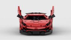 Lamborghini Aventador SV Lego: vista frontale con le portiere aperte