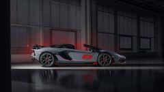 Lamborghini Aventador SVJ 63 Roadster il lato, aperta