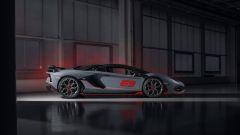 Lamborghini Aventador SVJ 63 Roadster il lato, chiusa