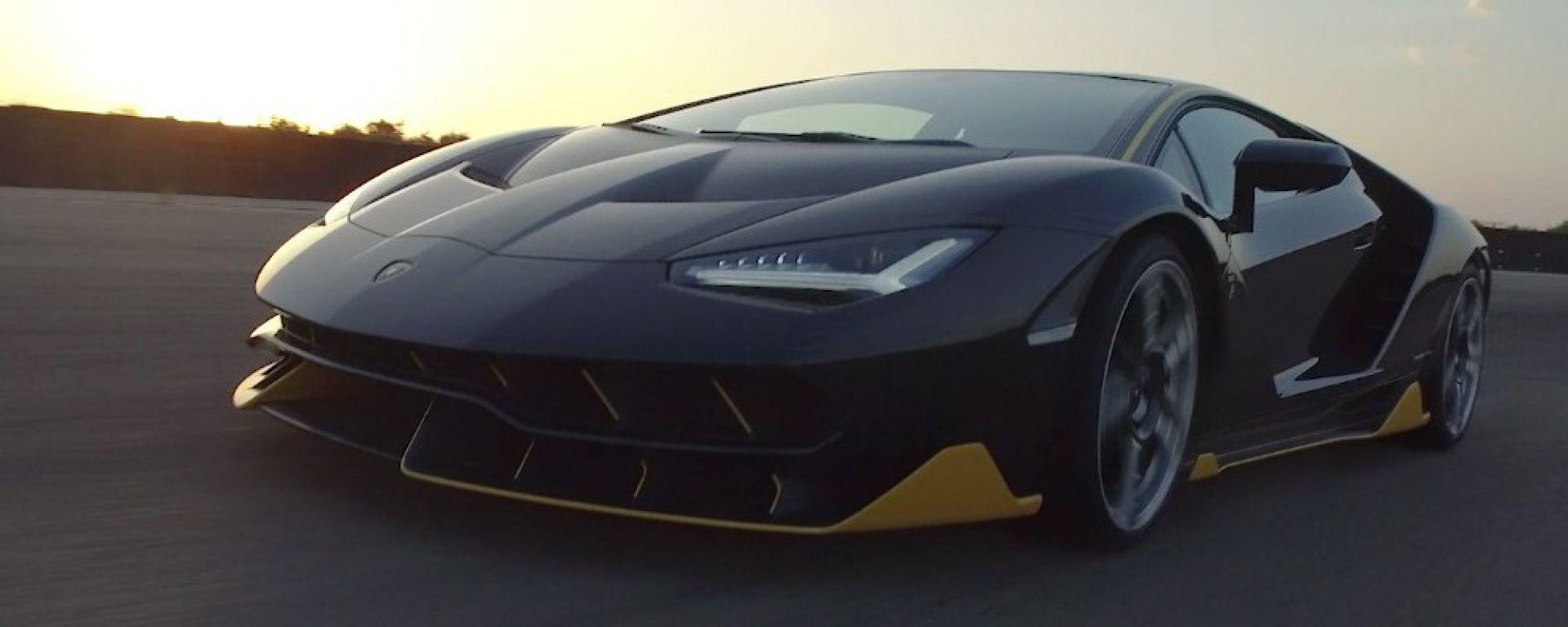 Lamborghini Centenario a Nardò: il video in circuito