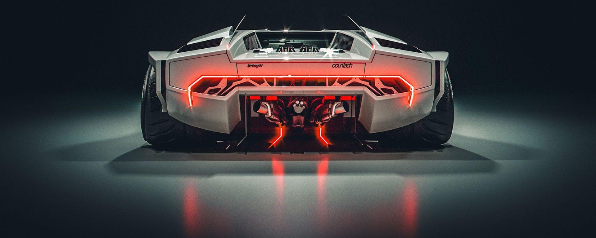 Lamborghini Countach, il super rendering di Khyzyl Saleem