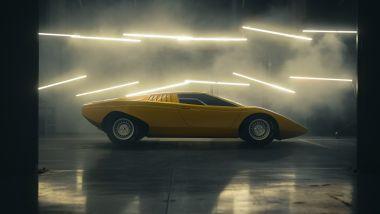 Lamborghini Countach LP 500 1971 recreation: vista laterale