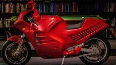 Lamborghini Design 90: di profilo in colore rosso