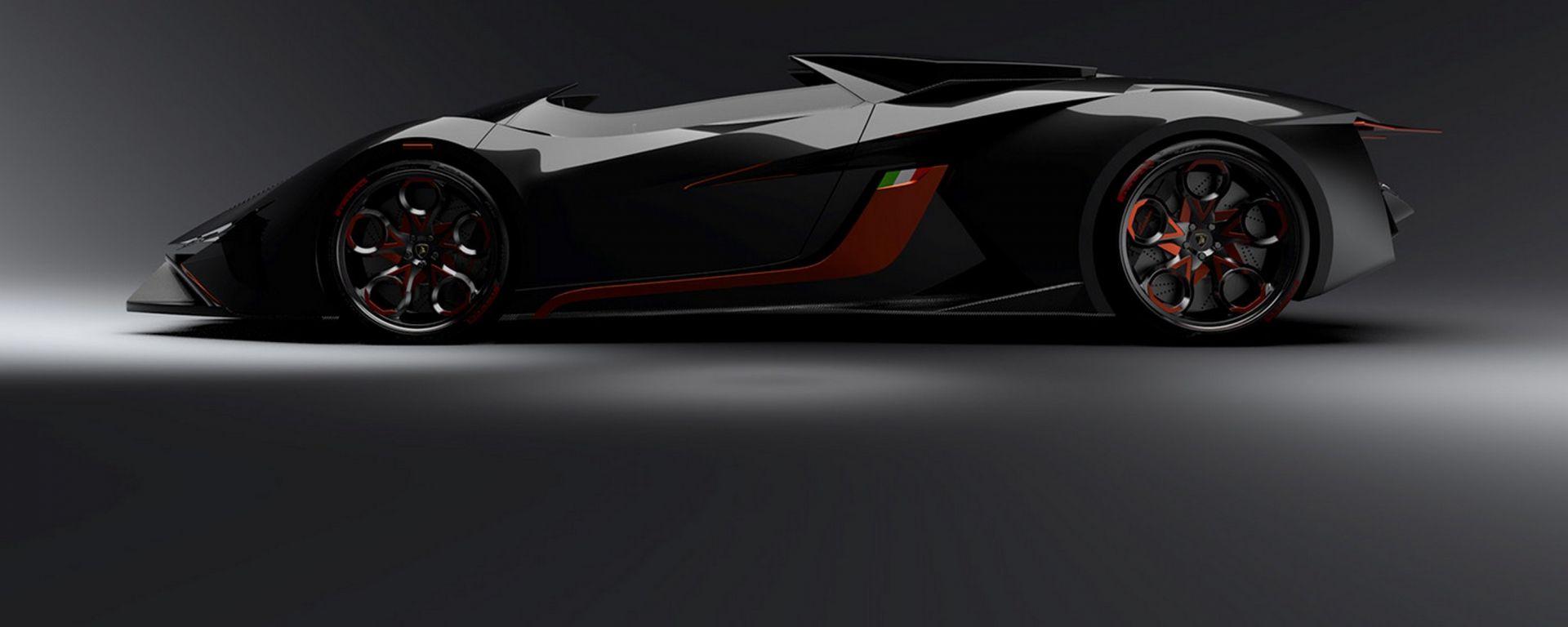 Lamborghini Diamante concept: vista laterale