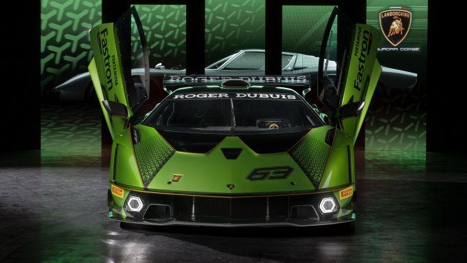 Lamborghini Essenza, il frontale