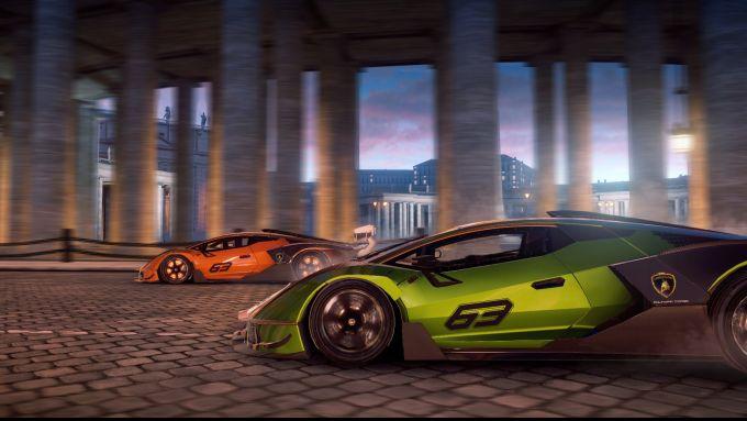 Lamborghini Essenza SCV12 in Asphalt 9 Legends: un'immagine del gioco