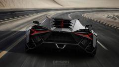 Lamborghini Forsennato Concept: il posteriore