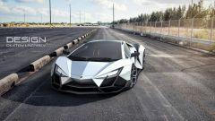 Lamborghini Forsennato Concept: un rendering ambientato