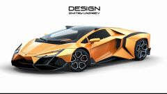 Lamborghini Forsennato Concept: vista 3/4 anteriore