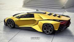 Lamborghini Forsennato Concept: vista laterale