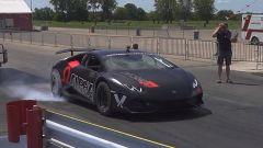 Lamborghini Huracan by AMS Performance: si scaldano le gomme prima della partenza