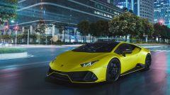 Lamborghini Huracan EVO Fluo Capsule, la vernice è opaca