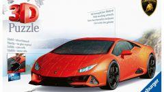 Lamborghini Huracan Evo: la confezione del puzzle 3D Ravensburger