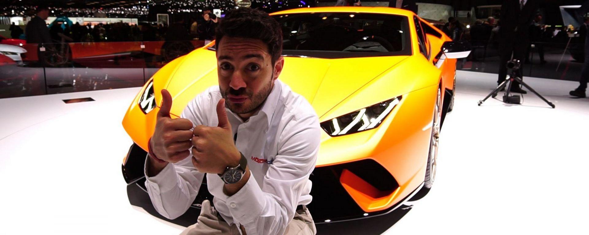 Lamborghini Huracan Performante, Salone di Ginevra 2017, live dallo stand