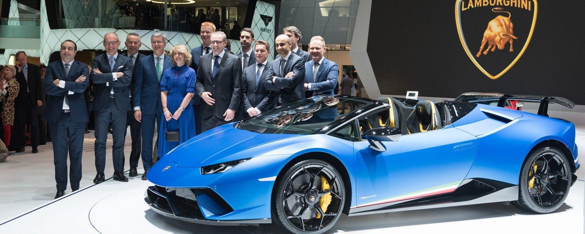 Lamborghini Huracàn Performante Spyder, live Salone di Ginevra 2018